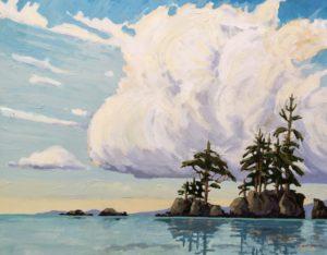 West Coast Habitat 24 x 30 acrylic on canvas