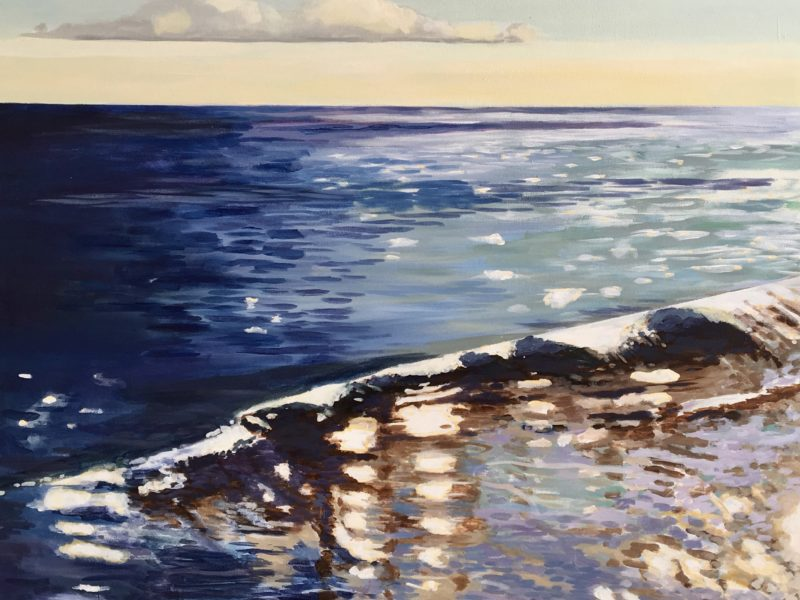 """<span class=""""entry-title-primary"""">The Sea</span> <span class=""""entry-subtitle"""">36 x 48 acrylic on canvas</span>"""