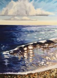 The Sea 36 x 48 acrylic on canvas