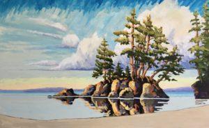 Coastal Islet 30 x 48, acrylic on canvas