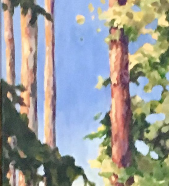 """<span class=""""entry-title-primary"""">Forest Path</span> <span class=""""entry-subtitle"""">12 x 48, acrylic on canvas - sold</span>"""