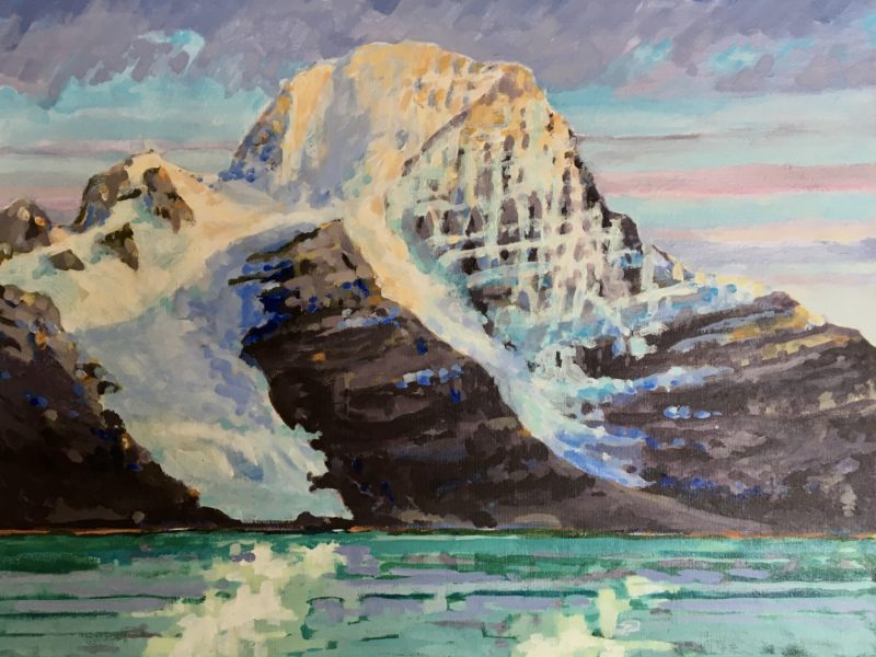 """<span class=""""entry-title-primary"""">Mount Robson</span> <span class=""""entry-subtitle"""">16 x 20 acrylic on canvas</span>"""