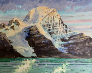 Mount Robson 16 x 20 acrylic on canvas