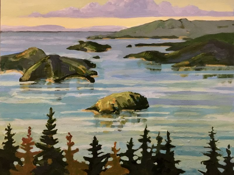 """<span class=""""entry-title-primary"""">Howe Sound</span> <span class=""""entry-subtitle"""">11 x 14, acrylic on canvas</span>"""