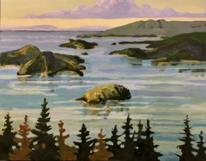 Howe Sound 11 x 14, acrylic on canvas