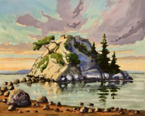 Morning Light, Whyte Islet. 16 x 20, acrylic on canvas