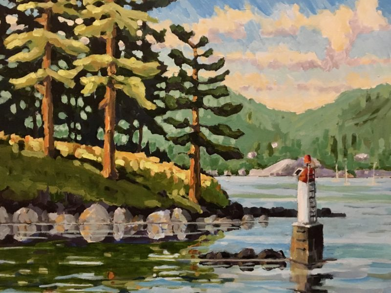 """<span class=""""entry-title-primary"""">Entrance to Snug Cove</span> <span class=""""entry-subtitle"""">16 x 20, acrylic on canvas</span>"""