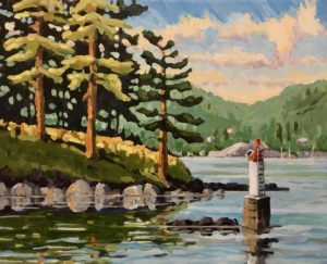 Snug Cove Entrance 16 x 20, acrylic on canvas