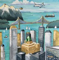 Vancouver Elements 20 x 20, acrylic on canvas