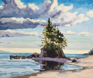 Port Renfrew 16 x 20, acrylic on canvas