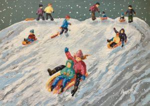 Joyous Times 10 x 14 acrylic on canvas