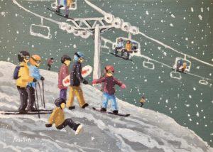 Winter Fun 10 x 14 acrylic on canvas