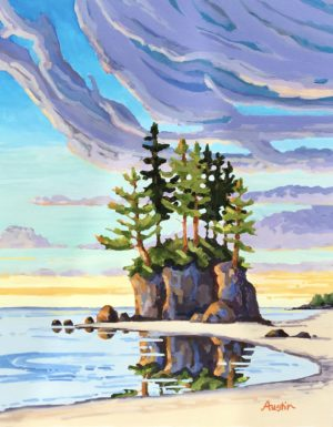 Port Renfrew Colours 30 x 24, acrylic on canvas - sold