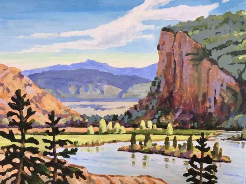 "<span class=""entry-title-primary"">McIntyre Bluff</span> <span class=""entry-subtitle"">16 x 20, acrylic on canvas - sold</span>"