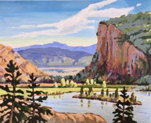 McIntyre Bluff 16 x 20, acrylic on canvas - sold