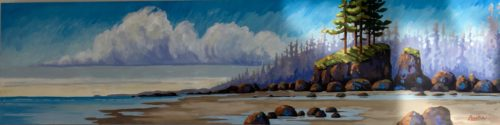 Original Coastal Spirit 18 x 72, acrylic on canvas