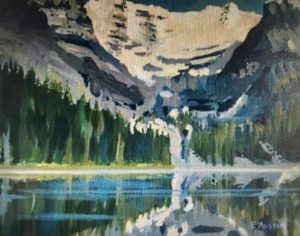 Lake O'Hara 11 x 14, acrylic on canvas