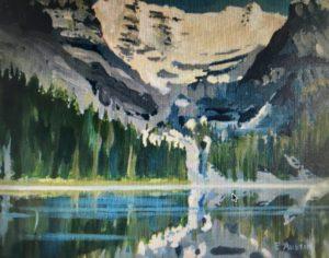 Lake O'Hara 11 x 14, acrylic on canvas