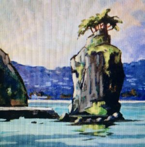Siwash Rock 12 x 12, acrylic on canvas - sold