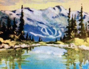 Lesser Harmony Lake, Whistler 8 x 10, acrylic on canvas