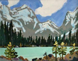 Linda Lake 11 x 14 Acrylic on canvas