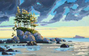 Blue Pacific 30 x 48, acrylic on canvas