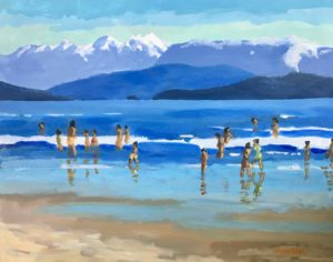 Spanish Banks Summer 16 x 20 acrylic on canvas