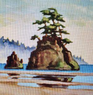 West Coast Reflection 8 x 8, acrylic on canvas - sold