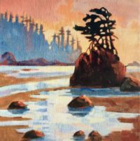 West Coast Beach 8 x 8, acrylic on canvas - sold
