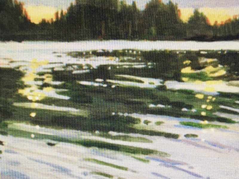 """<span class=""""entry-title-primary"""">Across the Lake</span> <span class=""""entry-subtitle"""">8 x 8, acrylic on canvas - sold</span>"""