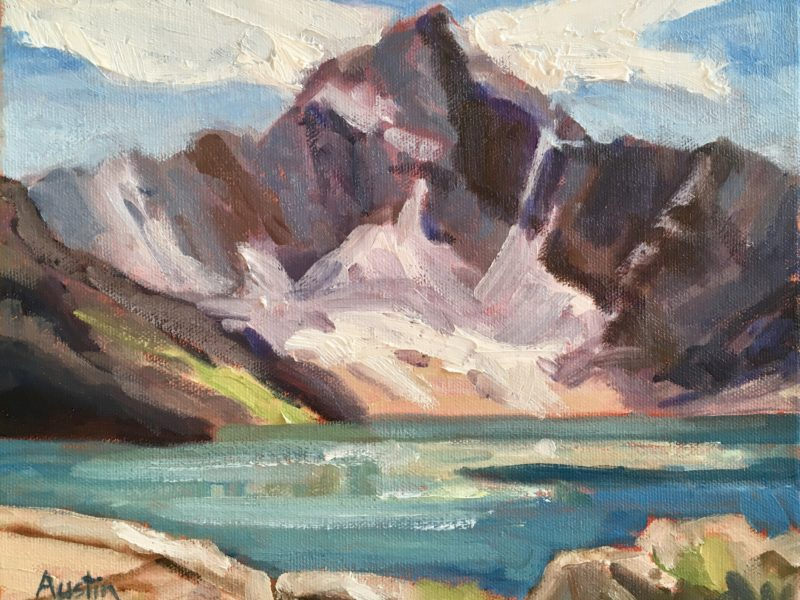 """<span class=""""entry-title-primary"""">Mount Biddle, Lake McArthur</span> <span class=""""entry-subtitle"""">8 x 10, oil on canvas</span>"""