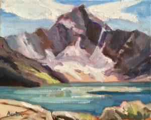 Mount Biddle, Lake McArthur 8 x 10, oil on canvas