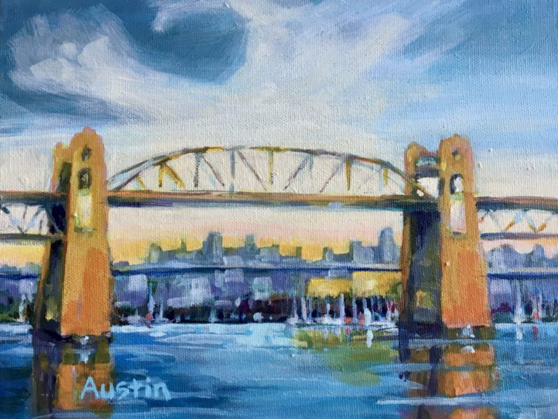 "<span class=""entry-title-primary"">Burrard Bridge Pattern</span> <span class=""entry-subtitle"">8 x 10, acrylic on canvas</span>"