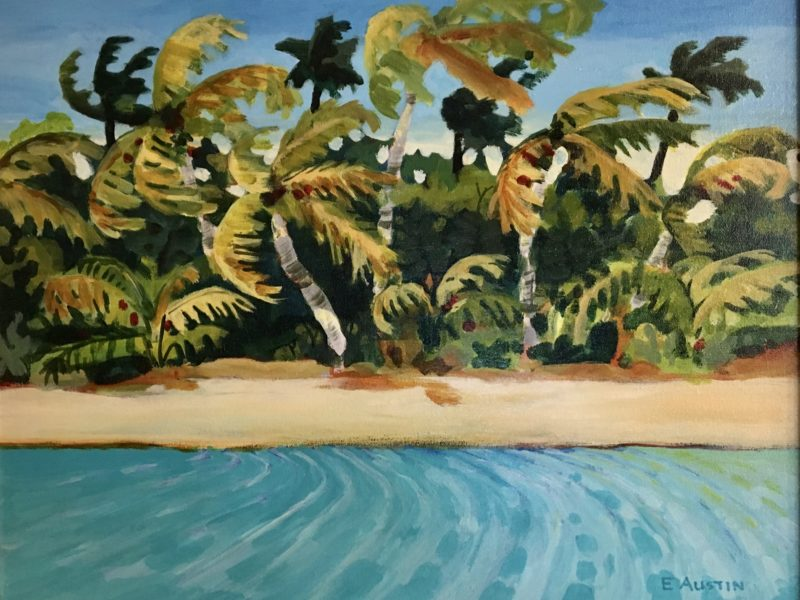 """<span class=""""entry-title-primary"""">Palms in the Wind</span> <span class=""""entry-subtitle"""">16 x 20, acrylic on canvas</span>"""