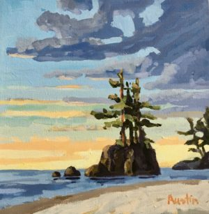 Pacific Perspectives 10 x 10, acrylic on canvas - sold