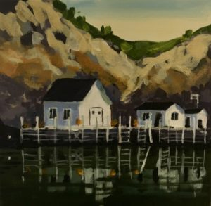Quidi Vidi Two 8 x 8, acrylic on canvas