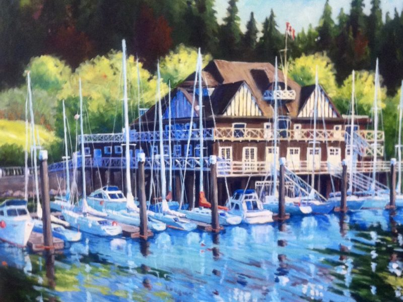 """<span class=""""entry-title-primary"""">The Rowing Club</span> <span class=""""entry-subtitle"""">acrylic on canvas, 36 x 36 - sold</span>"""