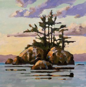 Coastal Vision 8 x 8, acrylic on canvas
