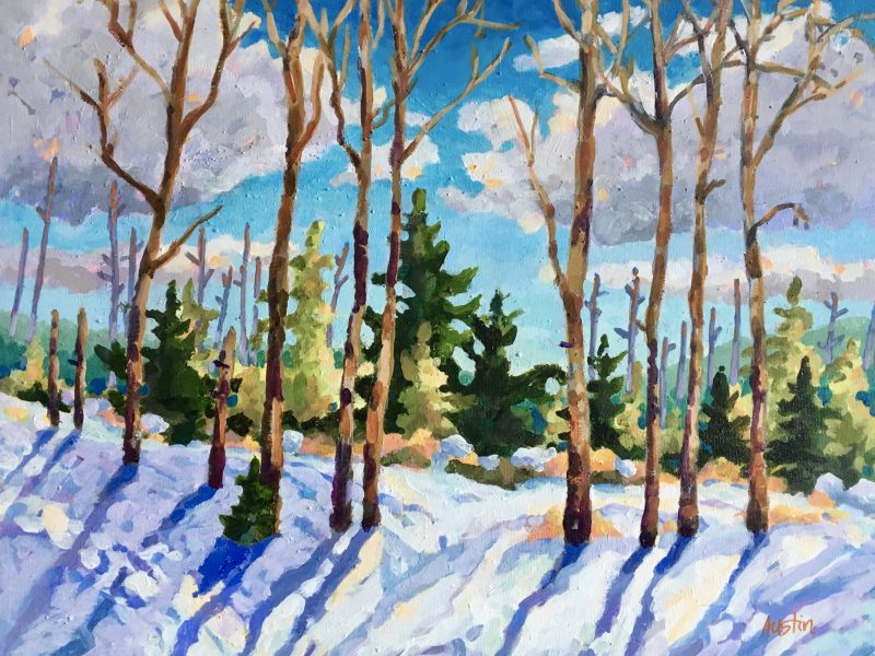 "<span class=""entry-title-primary"">Harmony in Winter</span> <span class=""entry-subtitle"">16 x 20, acrylic on canvas</span>"
