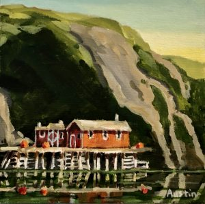 Quidi Vidi 3, Newfoundland 8 x 8, acrylic on canvas