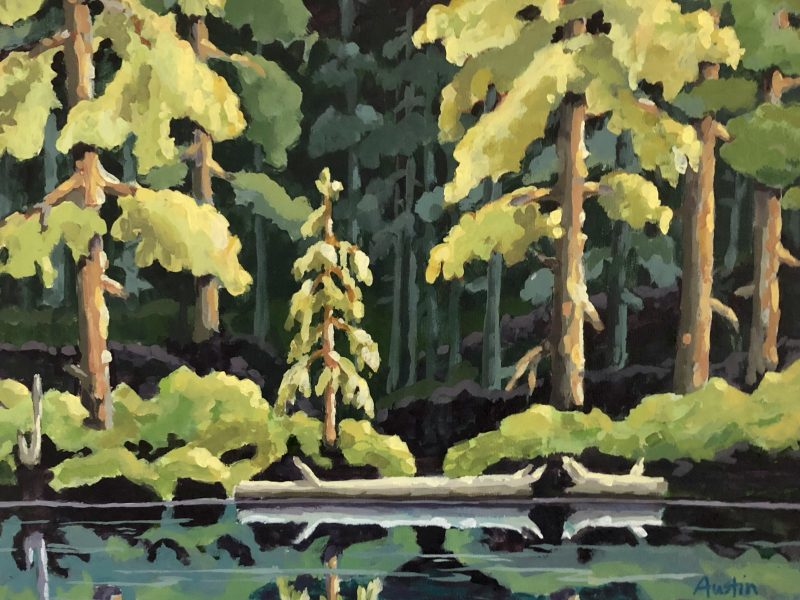 "<span class=""entry-title-primary"">Forest Reflections 1</span> <span class=""entry-subtitle"">16 x 20, acrylic on canvas - sold</span>"