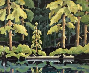 Forest Reflections 1 16 x 20, acrylic on canvas - sold