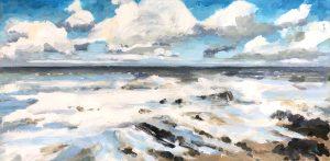 Turbulent Water 12 x 24, acrylic on canvas