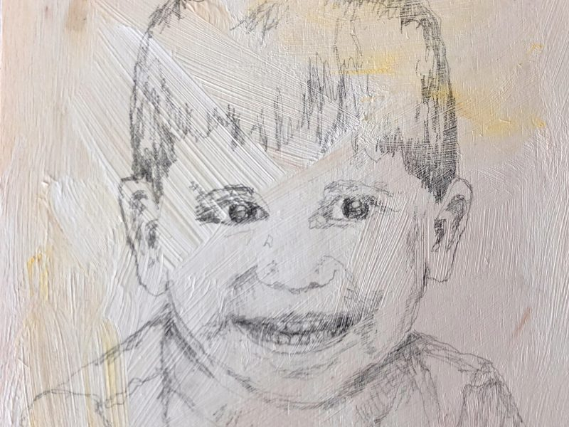 """<span class=""""entry-title-primary"""">Young Man</span> <span class=""""entry-subtitle"""">6 x 6 graphite on pine board</span>"""