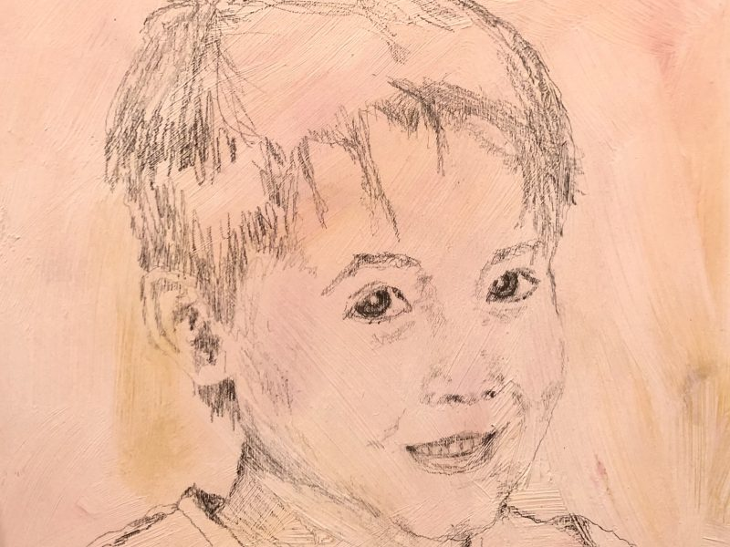 """<span class=""""entry-title-primary"""">Young man 2</span> <span class=""""entry-subtitle"""">6 x 6, graphite on pine board</span>"""