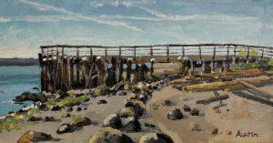 John Lawson Pier 6.5 x 12, oil on cradled panel