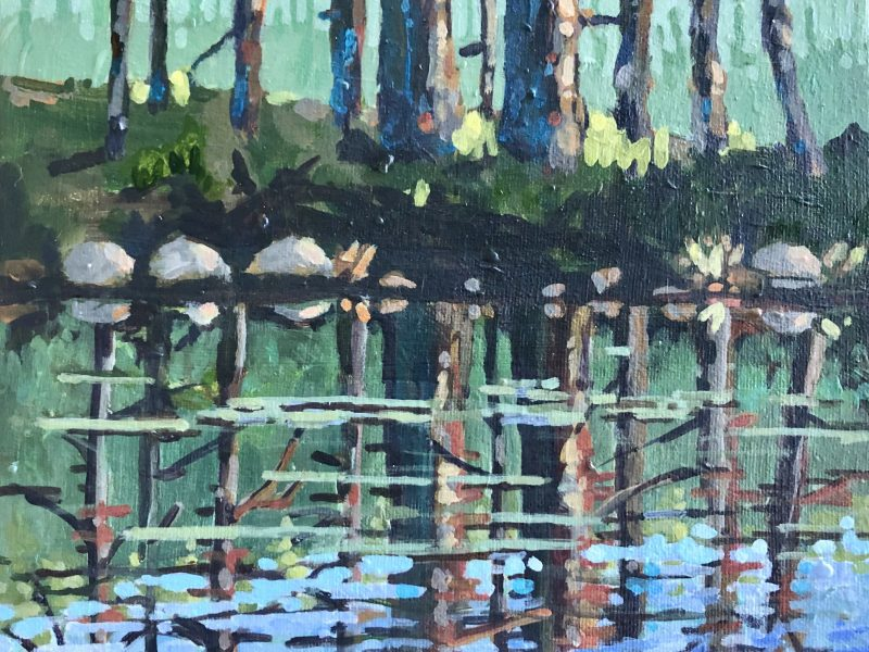 "<span class=""entry-title-primary"">Cypress Reflections</span> <span class=""entry-subtitle"">8 x 10, acrylic on canvas - sold</span>"