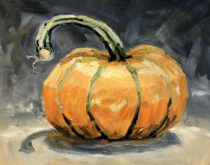 Pumpkin Time 8 x 10, oil on cradled panel
