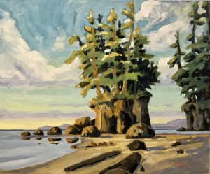 West Coast Peace – Sold 16 x 20, oil on canvas