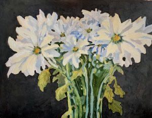 Fresh White Daisies – SOLD 11 x 14, oil on panel